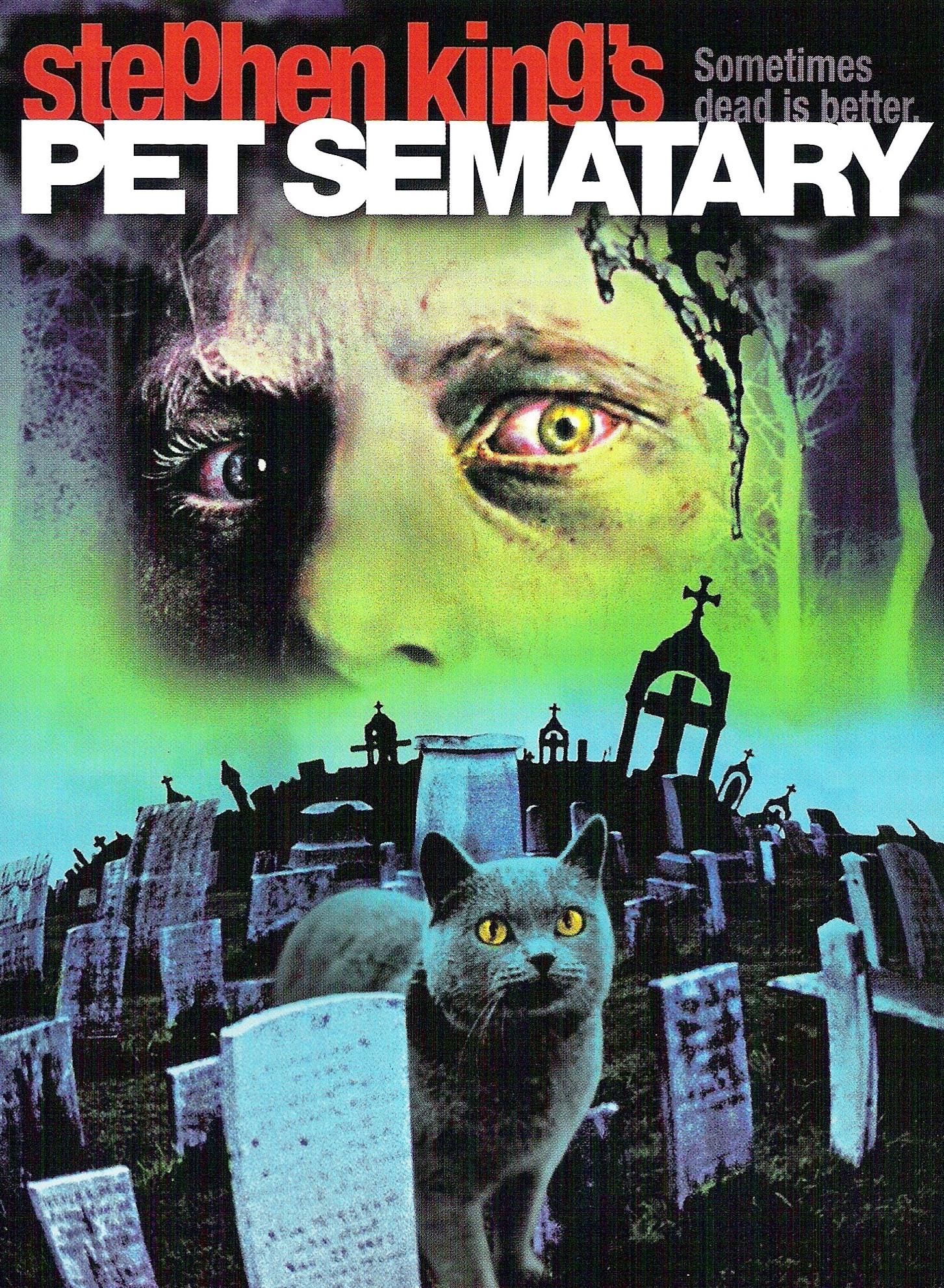 Pet Sematary 1989 Stephen King cult horror movie poster print